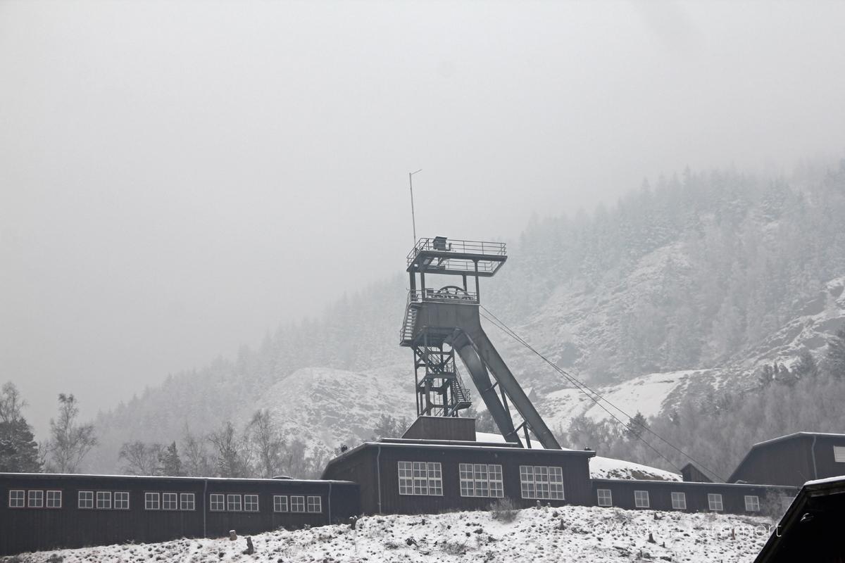 Das Bergwerk Rammelsberg im Harz - schneeverweht
