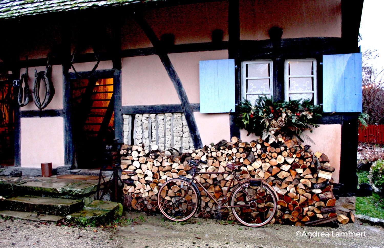 Weihnachten im Elsass, Ecomusee Ungersheim, Advent, Freilichtmuseum, Fachwerkhaus