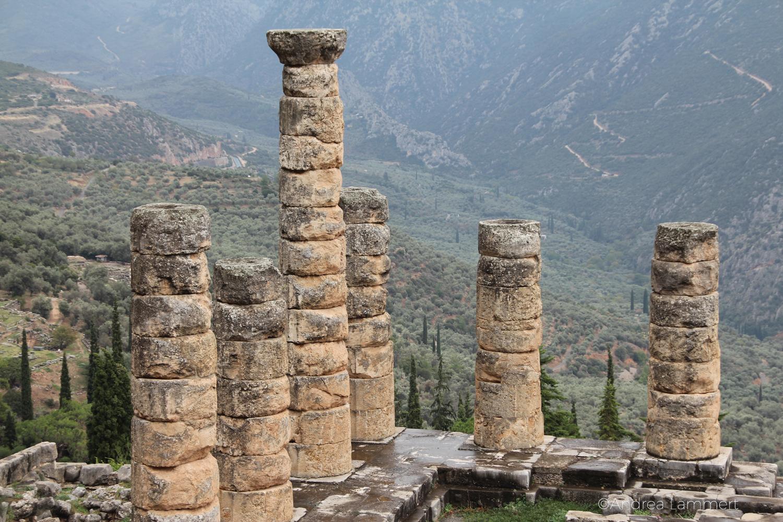 Magisches Delphi. Apollon-Tempel