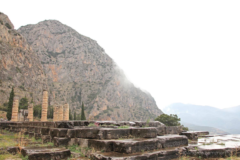 Magisches Delphi. Apollon-Tempel, Übersicht