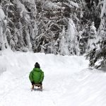 Winter im Harz: Rodeln entlang der Hühnerbrühe