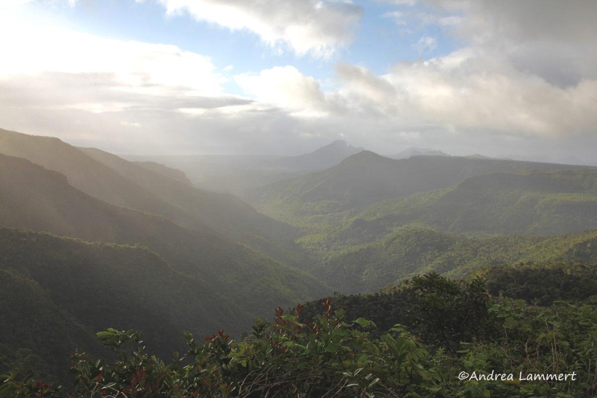 Winter auf Mauritius, Panorama Berge