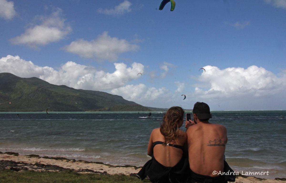 Winter auf Mauritius, Strand bei Le Morne