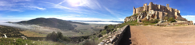 Aldea del Rey, Kastillien La Mancha, Calatrava la Nueva, Morgennebel, Panorama