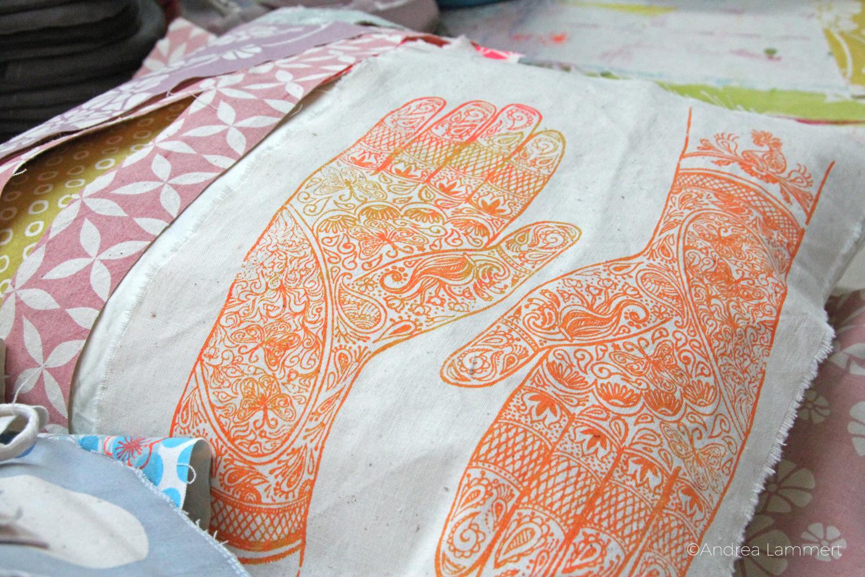 Deisterstraße, Hannover, Atelier Orike Muth, Textildruck, hier Hand