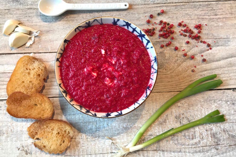 Rote-Bete-Kokos-Suppe, vegan