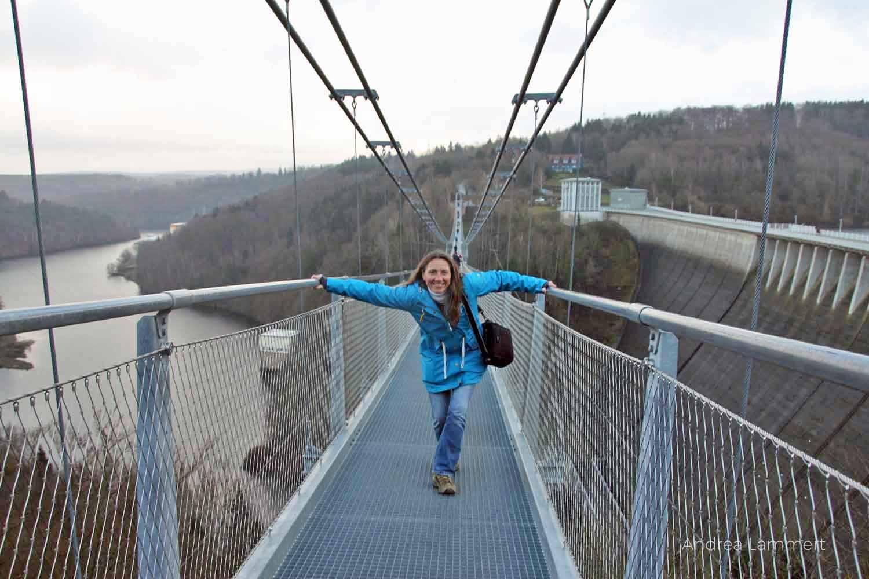Hängebrücke bei der Rappbodetalsperre im Harz