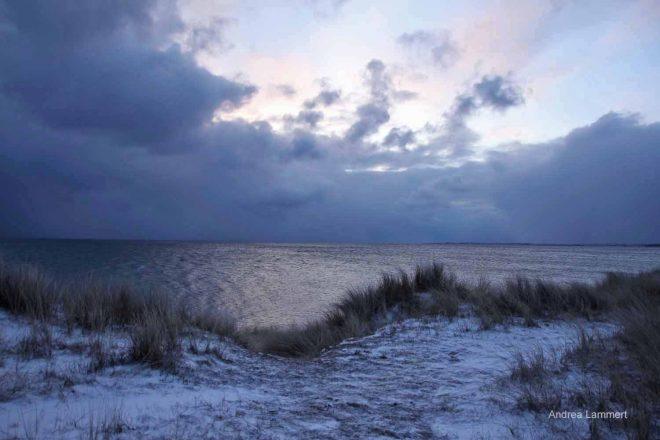 Langeland, Dänemark im Winter
