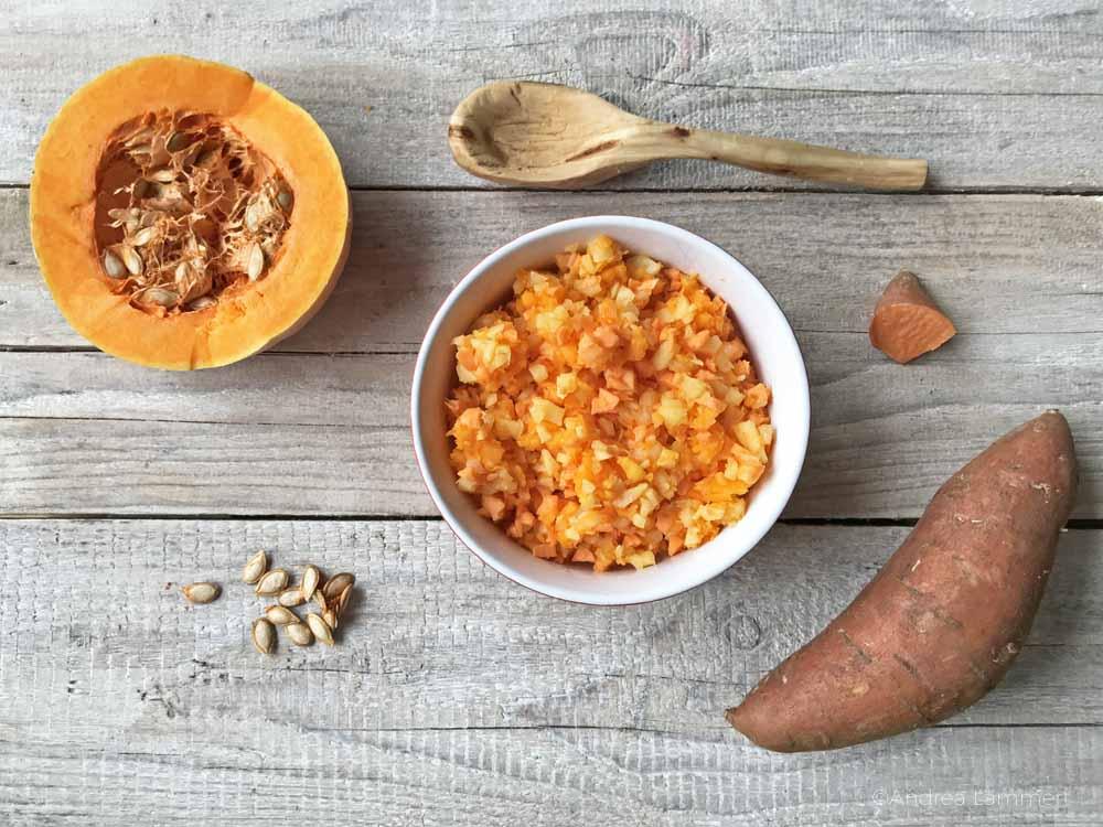 vegane Süßkartoffel-Puffer, Rezept