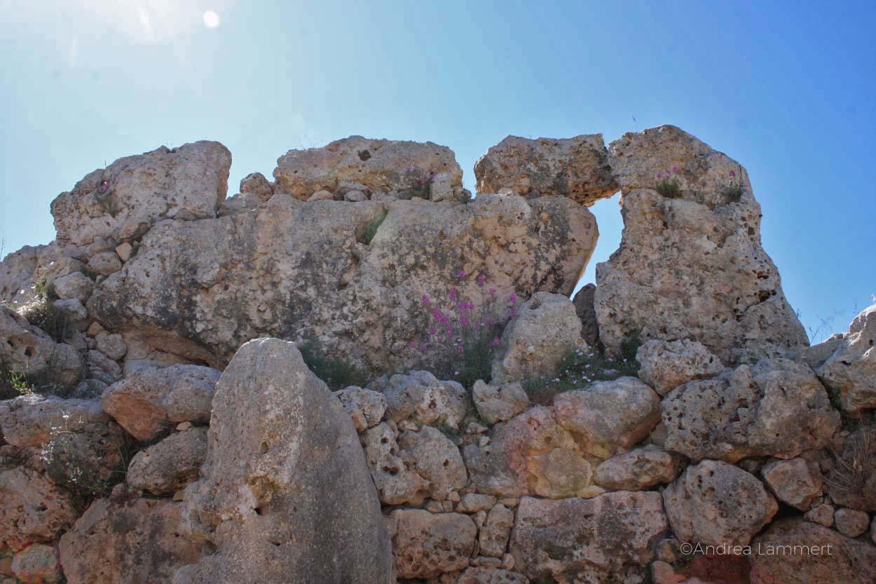 Gozo Kraftort Tempel Ggantija, Megalithangalge Gozo, Malta