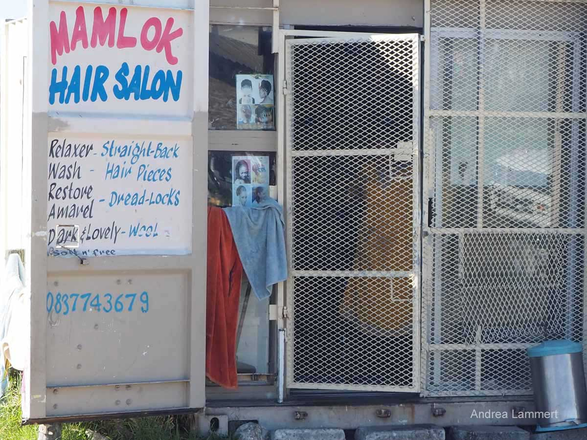 Langa, Township, Südafrika, Frisör, Leben im Container