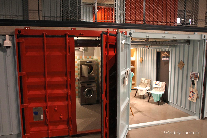 Containerhotel Dock Inn, Warnemünde, Schlafen im Überseecontainer