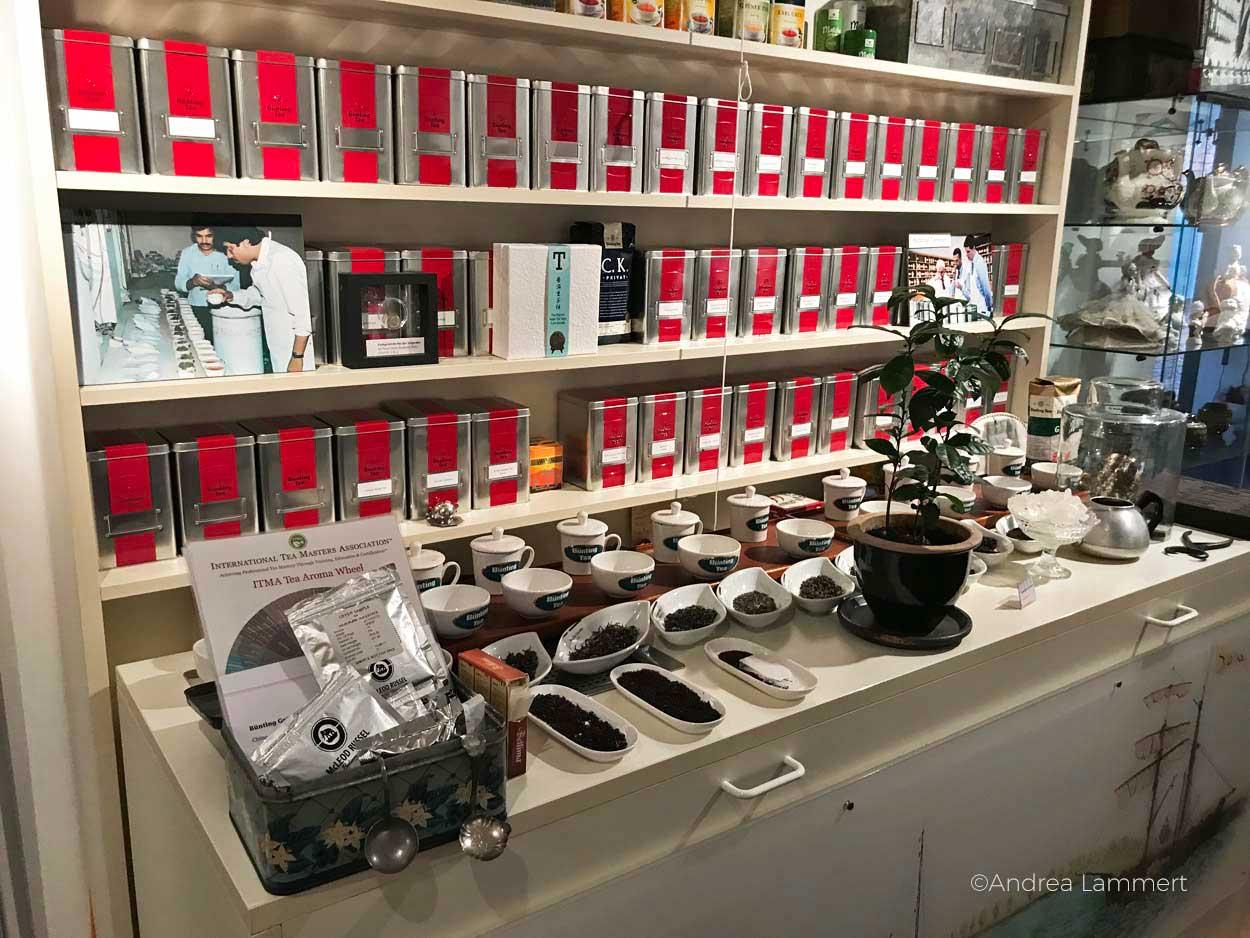 Teemuseum Bünting in Leer - Ladengeschäft Gehört zu den schönen Sachen, die man in Leer machen kann. Geheimtipps für die ostfriesische Stadt