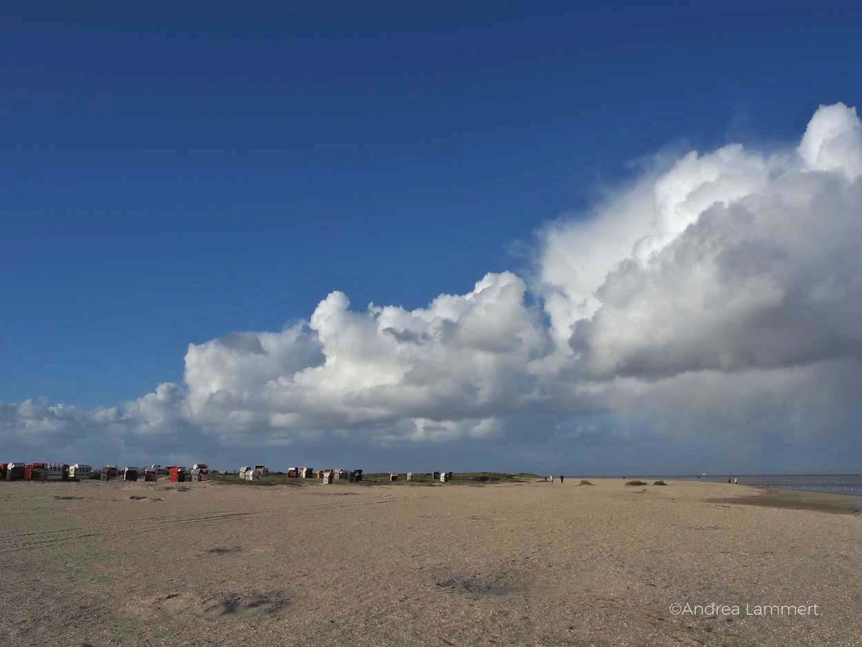 Strand bei Schillig, ganz schön viel Sand