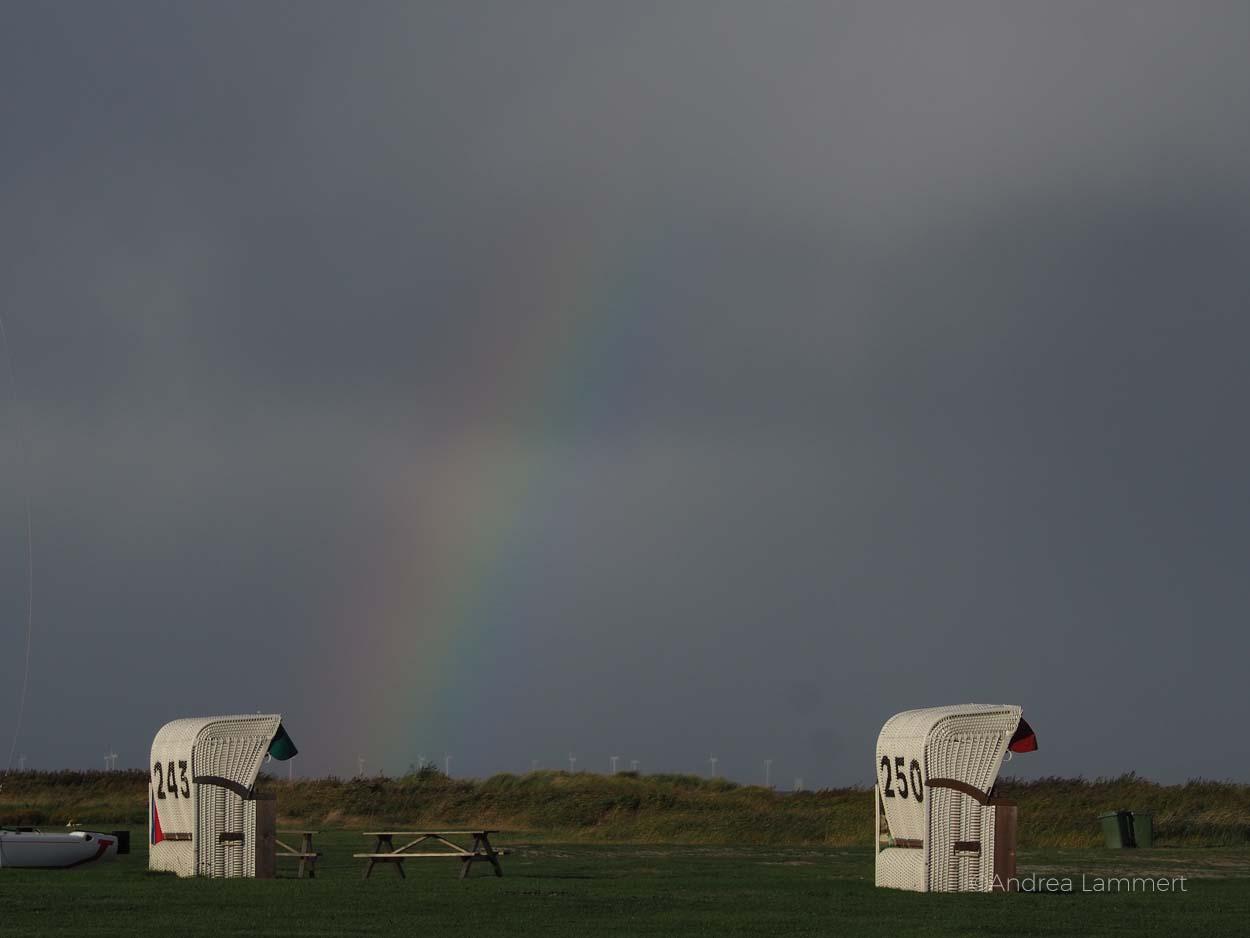 Regenbögen in Schillig:Warum ich die Nordsee liebe - Gründe für den Urlaub an der Nordsee, Nordseeinseln, einsame Inseln in der Nordsee,