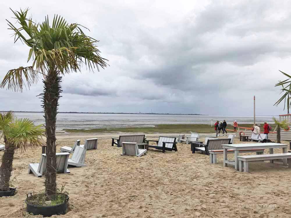 Palmenstrand an der Nordsee,