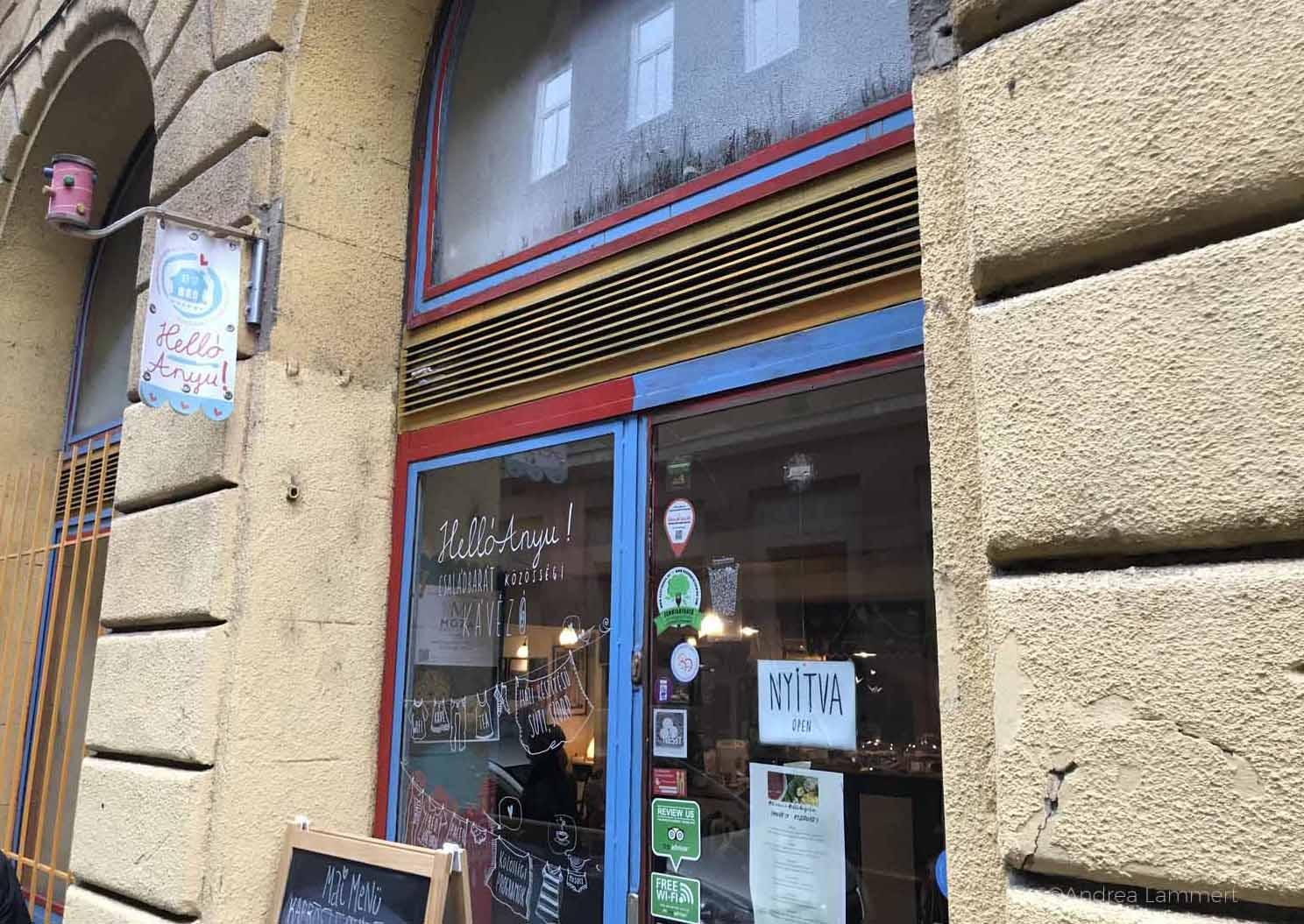 Budapest mit Kindern, Café Anyu