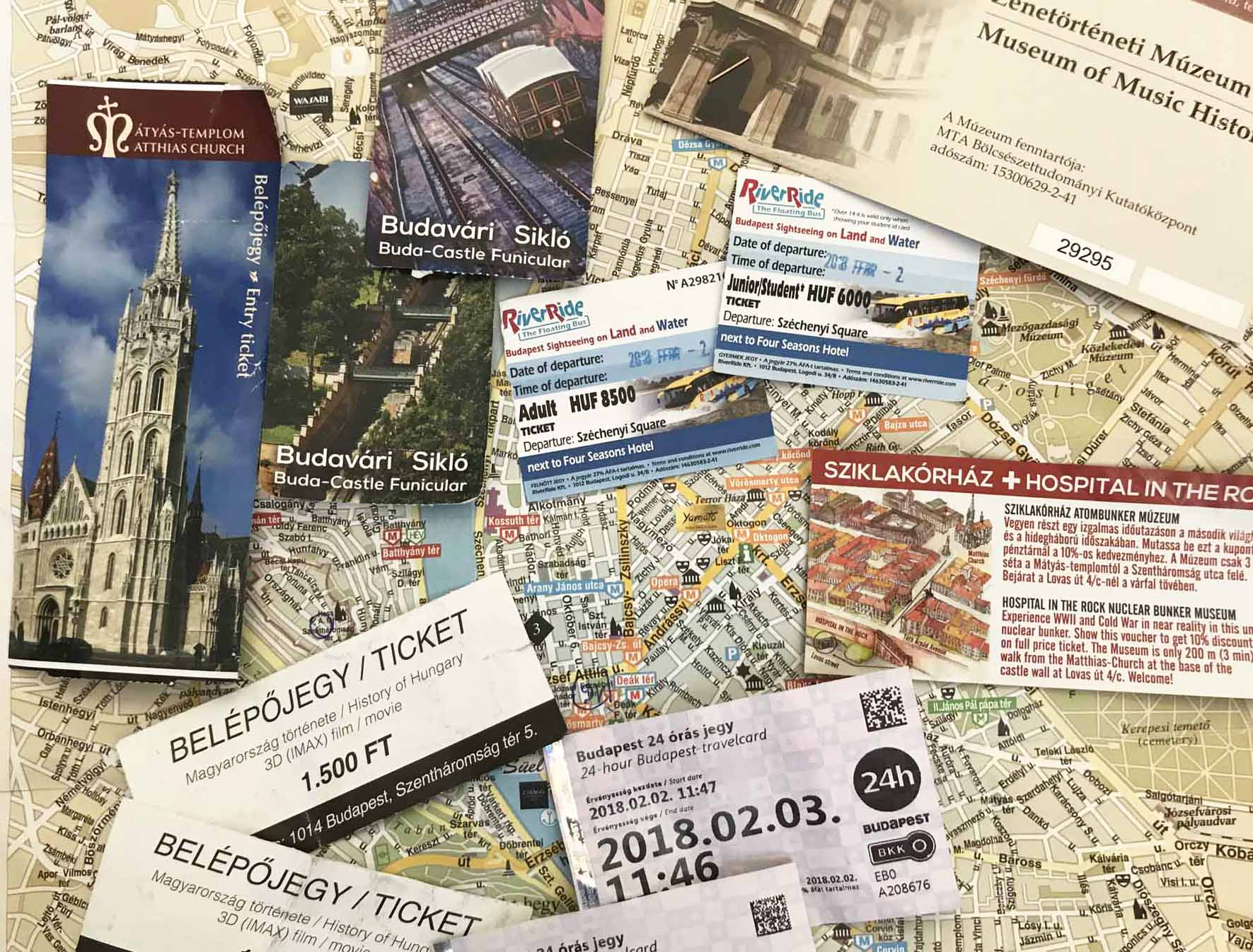 Budapest mit Kindern, Tickets