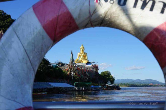 Flussfahrt auf dem Mekong ivon Thailand nach Laos, Mekong river tour