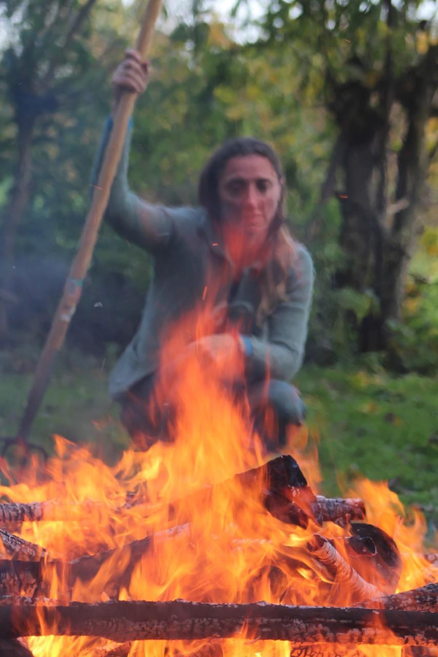 Schwitzhütte, Feuerfrau