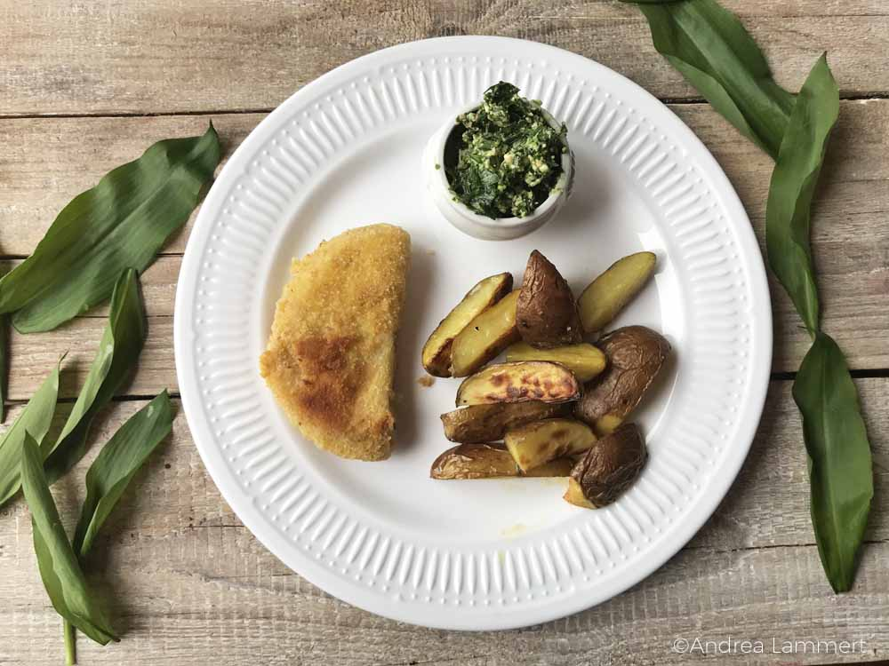 vegetarisches Sellerieschnitzel, Rezept auch vegan