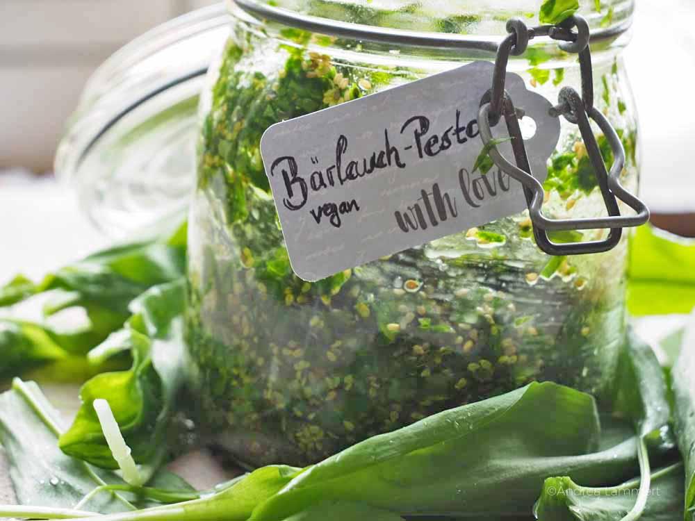 Rezepte mit Bärlauch, Bärlauchpesto, vegan