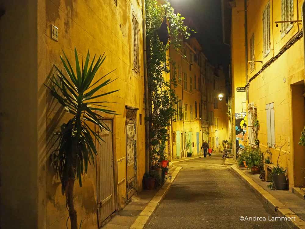 Alter Hafen Marseille, Panier-Viertel bei Nacht, Marseille bei Nacht