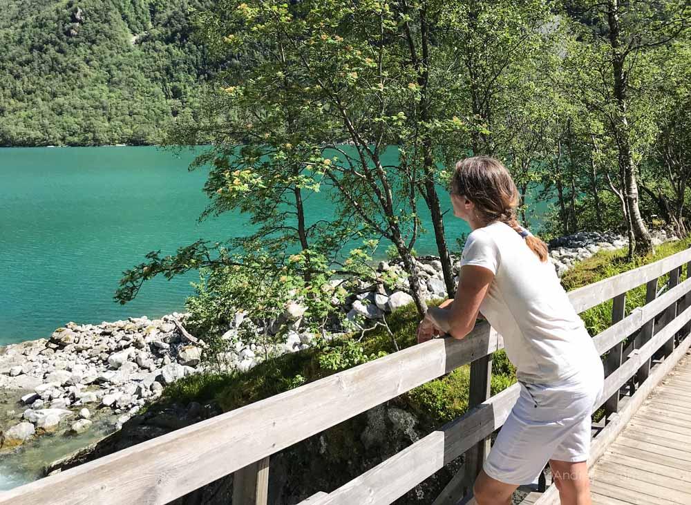 Norwegen Gletscher, Folgefonna Nationalpark, Bondhusvatnet, Wanderung, See