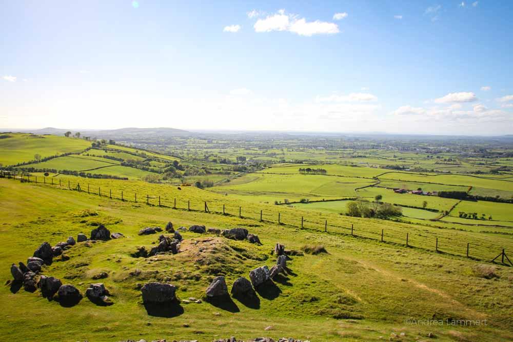 Loughcrew Cairns Irland Magische Steinkreise Indigo Blau De