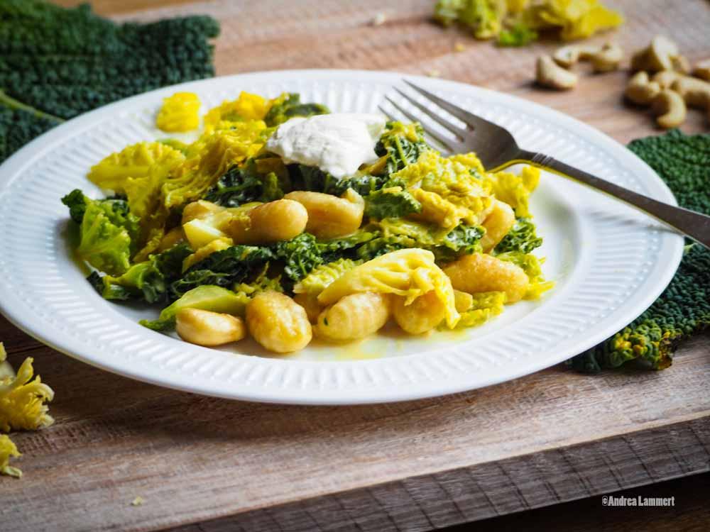 Wirsing Rezept vegetarisch_ Wirsing mit Gnocchi