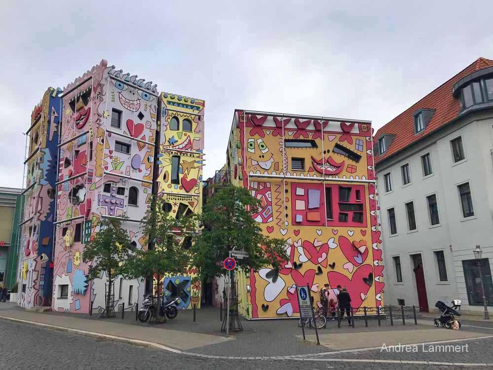 Happy-Rizzi-House: Es macht mit Pop-Art gute Laune und zählt zu den Sehenswürdigkeiten der Stadt.