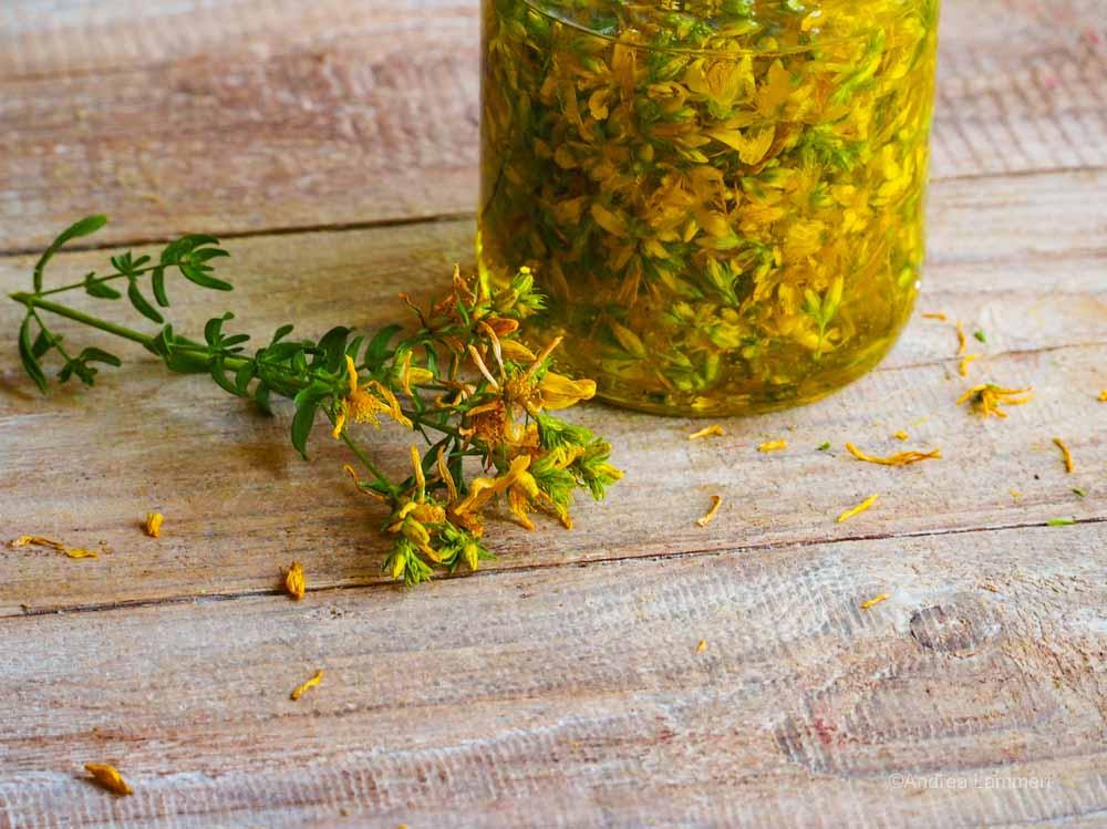 Johanniskrautöl-Rezept, selber machen