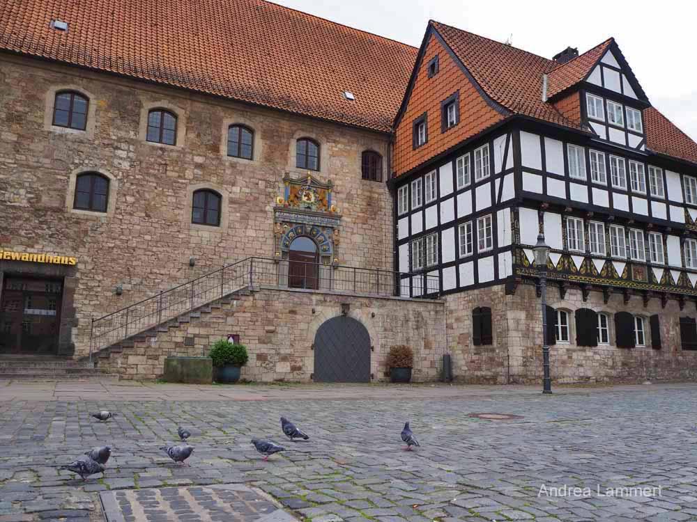 Das Gewandhaus am Altmarkt. in Braunschweig
