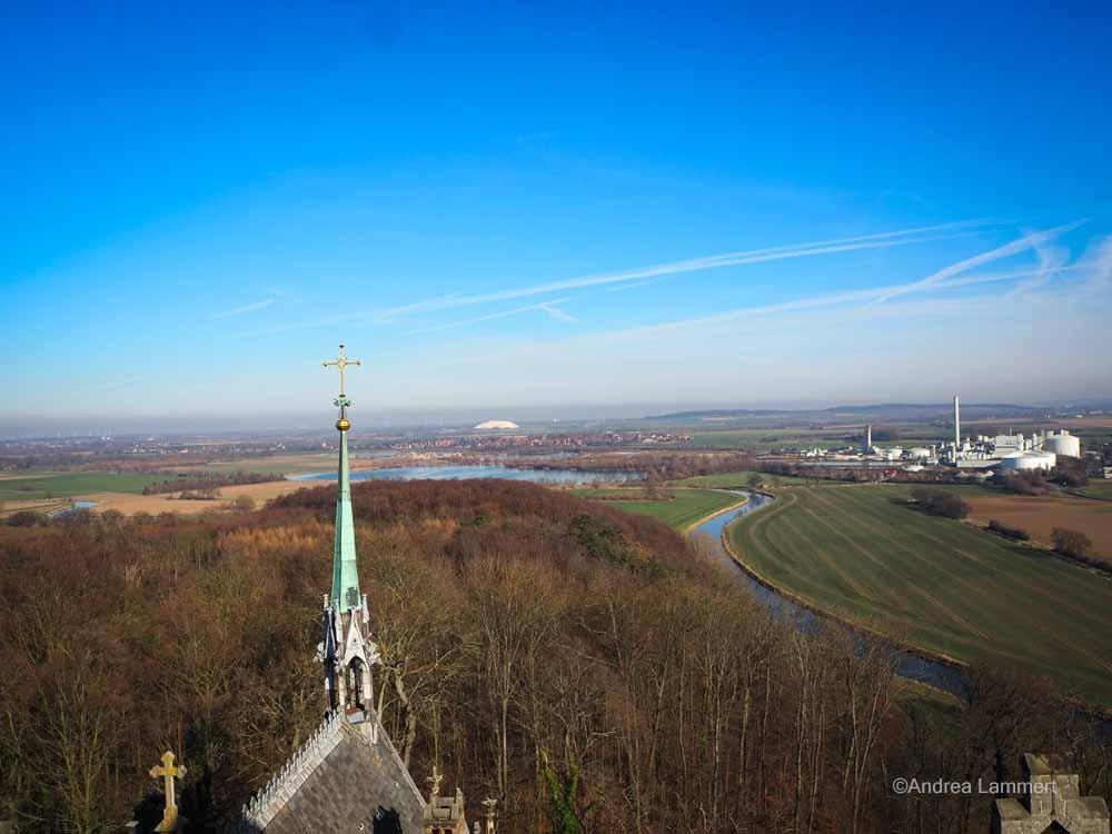 Blick von der Marienburg auf Nordstellem und die Zuckerrübenfabrik