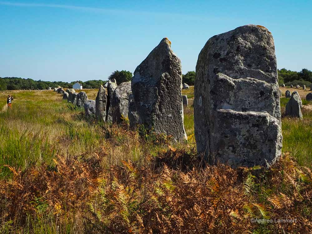 Carnac Menhire, Bretagne, mystische Orte