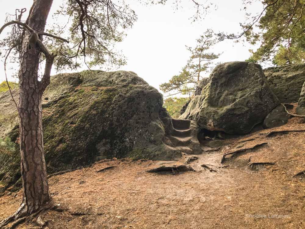 Steintreppen an der Teufelsmauer