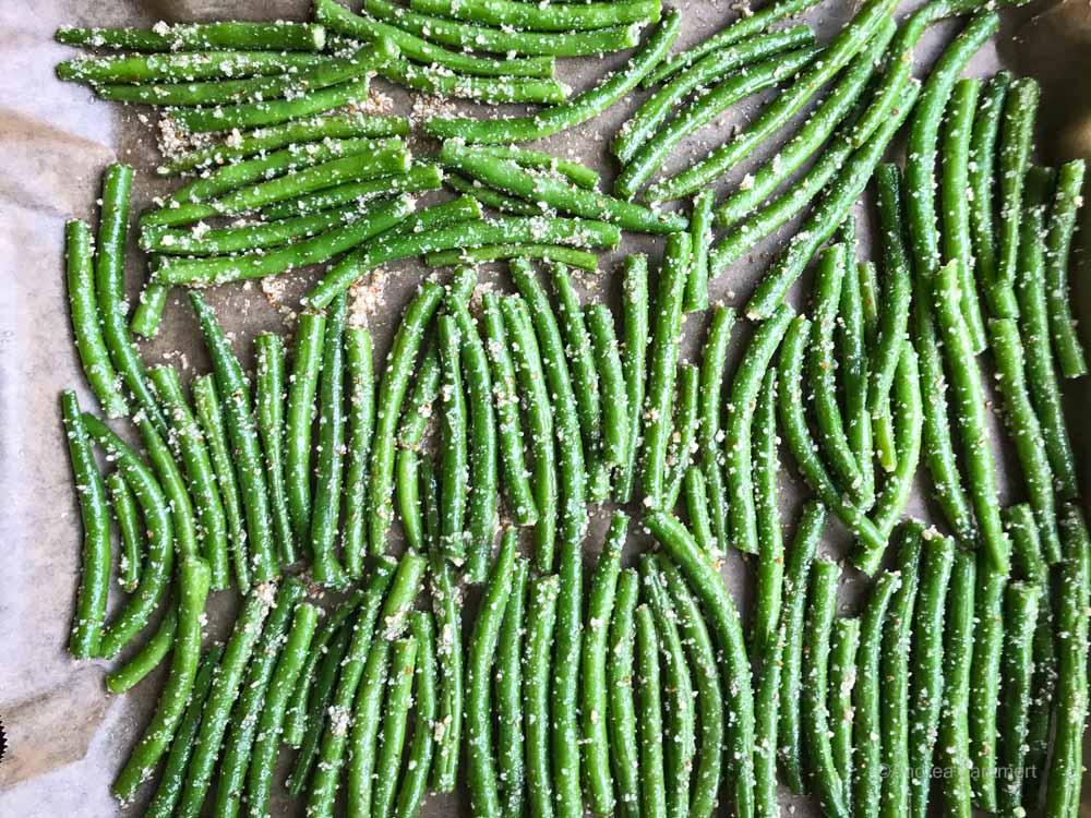 Green Bean FRies, Fried green beans, grüne bohnen fritten, Rezept
