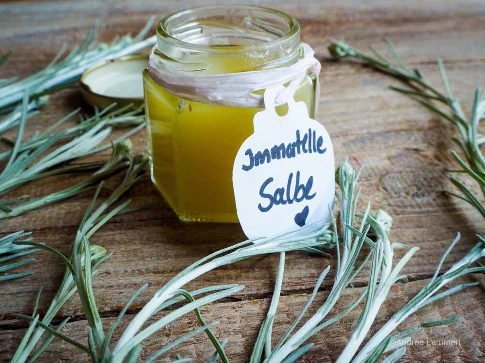 Immortelle oder auch Currykraut Salbe Heilwirkung