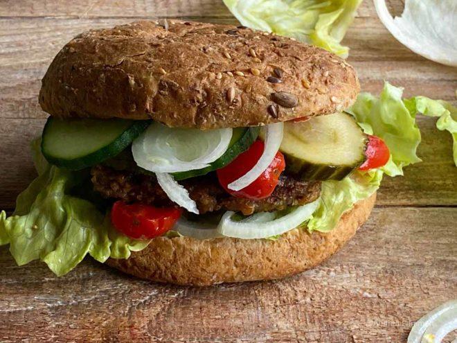 Veganer Linsenburger Pattie ohne Soja Rezept