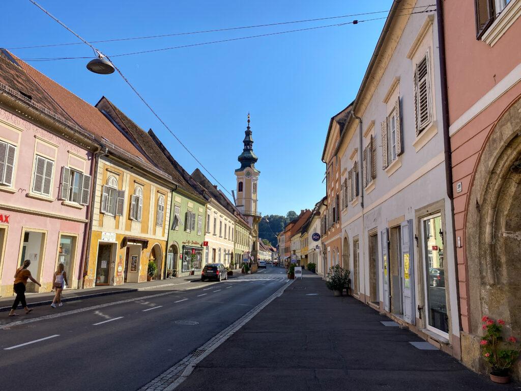 Bad Radkersburg, Steiermark, Rathausturm und Stadtpanorana