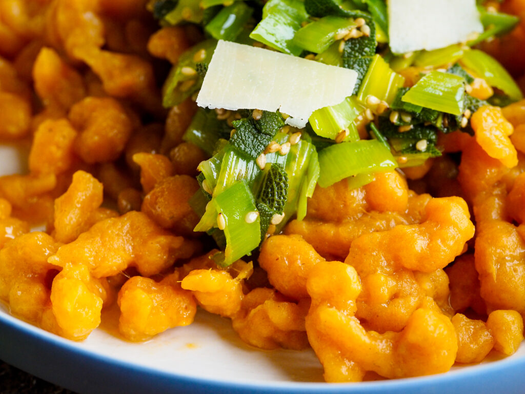Süßkartoffelspätzle Rezept vegan